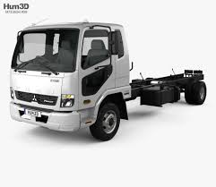 100 Mitsubishi Fuso Truck Fighter 1024 Chassis 2017 3D Model