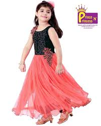Pattu Pavadai Kids Party Frock Gown
