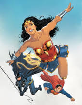 Wonder Woman With Batman And Superman On The Cover Of Annual Vol 5 1 July 2017 Art By Nicola Scott Romulo Fajardo Jr In 21st