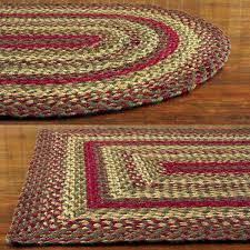 DecorationStar Braided Rug Pink And Green Ivory Oval Buy