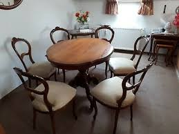 stilmöbel tisch und 6 stühle essgruppe gebraucht barock