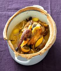 cuisine pintade cocotte recette cocotte lutée de pintade aux citrons confits