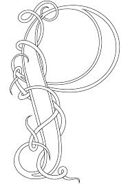 Celtic Coloring Pages Letter P