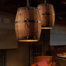 american country loft holz weinfass hängenden leuchte decke