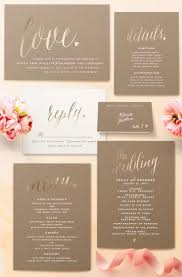Uber Romantic Gold Foil Wedding Invitations From Minted