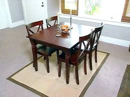 How Big Rug Under Dining Table Round Area