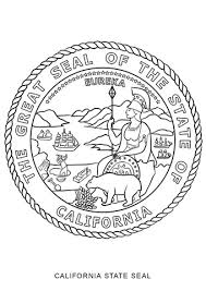 California State Seal Coloring Page