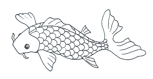 Fish Black And White Koi Clipart Clipartfest