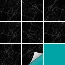 fliesenaufkleber dekor marmor schwarz