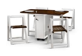 kitchen beautiful foldable dining set wood folding table six