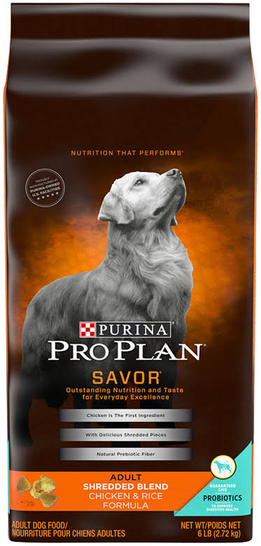 Purina Pro Plan Savor Dry Dog Food - Shredded Blend, Adult, Chicken and Rice Formula
