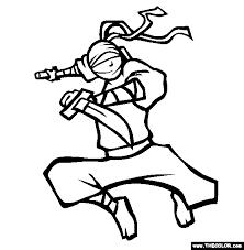 Ninja Nick Coloring Page