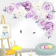 schöne violette lila pfingstrose blume wandaufkleber