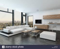 urbaner luxus eigentumswohnung oder penthouse wohnzimmer