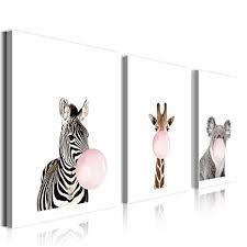 dekoration leinwand bilder tiere zebra wandbilder