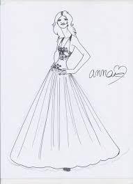 Wedding Dress Sketch By Designdiva7733