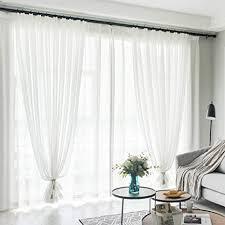 Schlafzimmer Vorhã Nge De Wewe Transparent Tüll Vorhang Einfarbig Mit