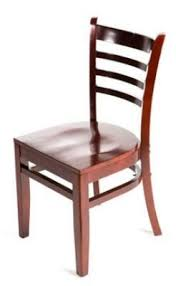 Get Quotations Oak Street Manufacturing WC101MH Solid Mahogany Wood Frame Ladderback Dining Chair With Seat