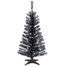 Black Artificial Christmas Tree Fresh Amazon National 4 Foot Tinsel With Plastic