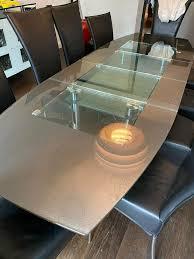 10 hochwertige stühle esszimmer set leder schwarz 1 tisch 10 1