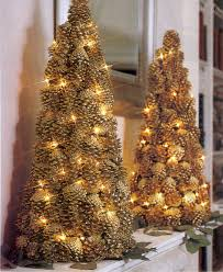 Pine Cone Christmas Tree Decorations by Lighted Pinecone Trees Christmas 2 Pinterest Pinecone