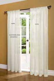 Traverse Rod Curtain Panels by Sheer Curtain And Door Panels U2013 Sheer Curtain Panels At
