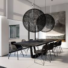 Woven Orbs Hang In The Dining Area Moooi Random Round Ball Pendant