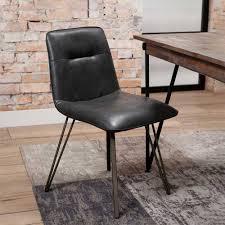 anthrazit schwarz metall esszimmerstühle kaufen