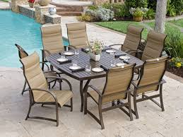 Outdoor/Patio Ibiza Sling 9 Pc. Aluminum Dining Set With 64