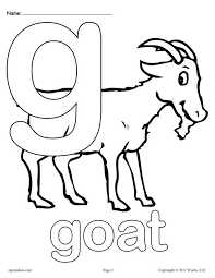 Lowercase Letter G Coloring Page