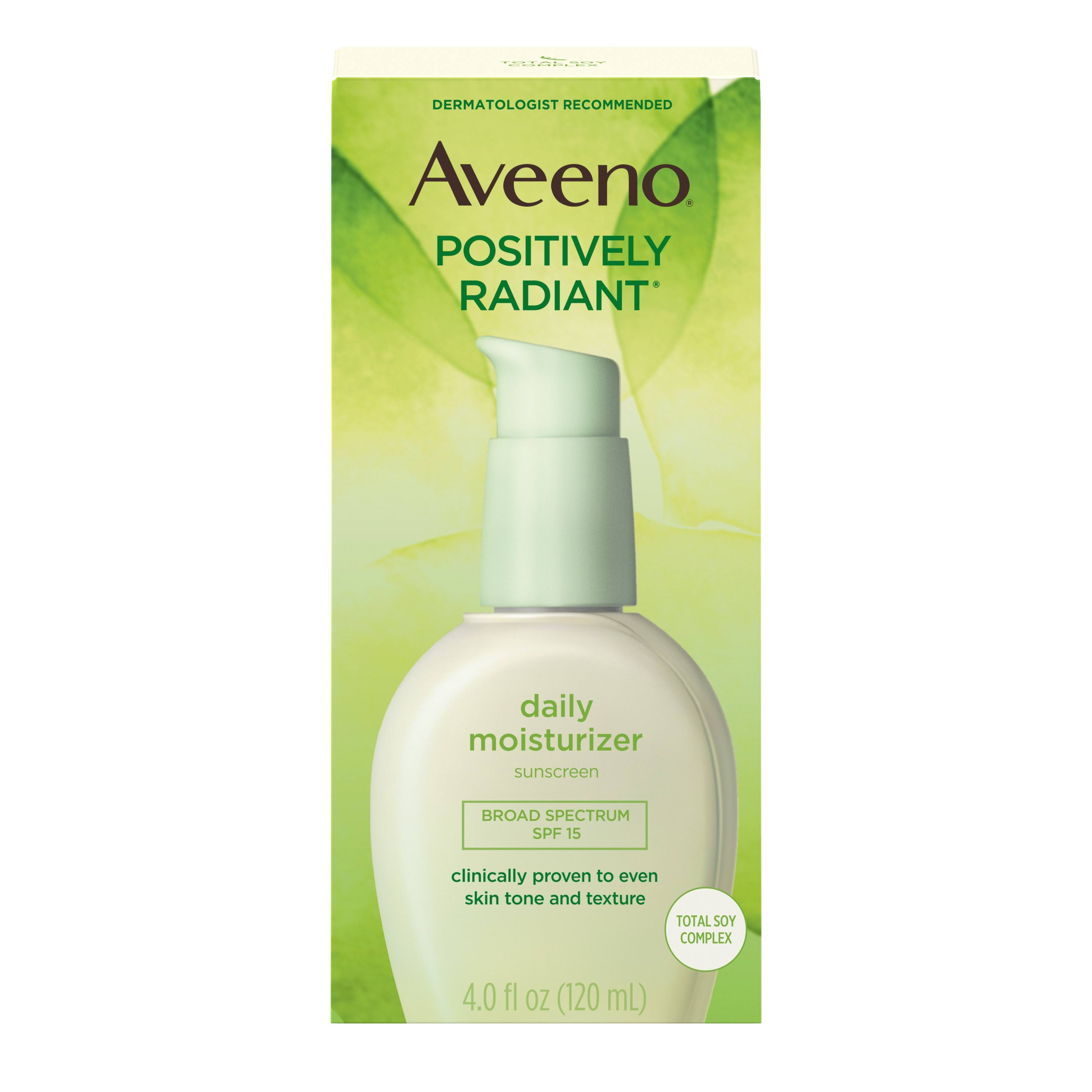 Aveeno Active Naturals Daily Moisturizer With Sunscreen Broad Spectrum - SPF 15, 120ml