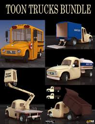 100 Vendor Trucks Toon Bundle 3D Models And 3D Software By Daz 3D