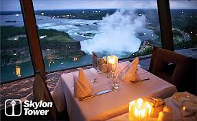 50 off dining at skylon tower and a free ride to the top of the