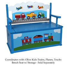 Amazon.com: Olive Kids Trains, Planes, Trucks Rocking Chair, Blue ...