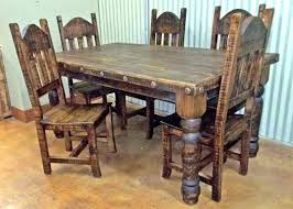 Mexican Dining Room Chairs Dinning Table Rustic Dinner Set Large