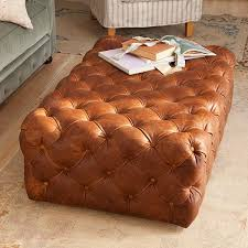 Leather Tufted Chair And Ottoman by Best 25 Tufted Leather Ottoman Ideas On Pinterest Leather