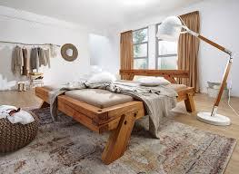balkenbett geölt 140x200 cm bett wildbuche massiv modern rustikal
