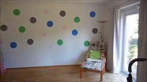 punkte an die wand malen i unser wohnzimmer vorher nachher i annabirdie