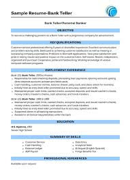 Entry Level Banking Resume Objective Examples