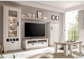 lomadox landhaus wohnzimmer tv media wohnwand set inkl