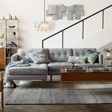 West Elm Crosby Sofa Sectional by Peggy Set 7 Left Arm Chaise Right Arm Sofa Shadow Weave