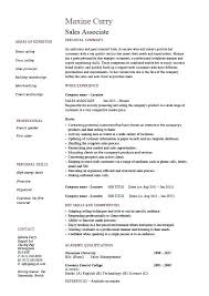 Resume Examples Retail Sales Associate