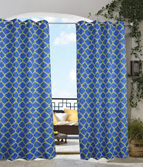 Blue Crushed Voile Curtains by Indoor U0026 Outdoor Grommet Top Curtains And Panels Thecurtainshop Com