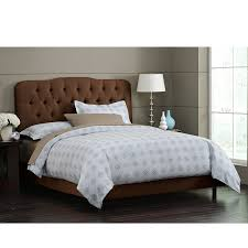 Skyline Furniture Tufted Headboard by Amazon Com Skyline Furniture Surrey Queen Shantung Upholstered