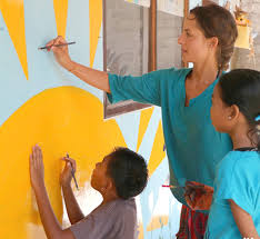 Volunteer In Bali Indonesia Teaching Art