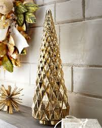 Mercury Glass Hobnail Tabletop Christmas Tree Small