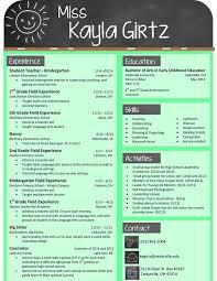 Sample Resumes For Teachers My Design For An Elementary Teacher