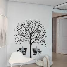 chambre pour amants nouveau dessin animé chiffres diy arbre banc stickers muraux pour