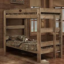 Simply Bunk Beds Mossy Oak Rustic Style Twin Over Bed 649