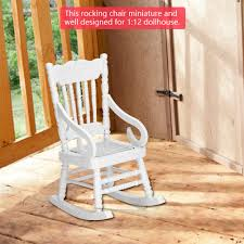US $4.17 20% OFF Hot Sale 1:12 Dollhouse Miniature Furniture White Wooden  Rocking Chair Hemp Rope Seat For Dolls House Accessories Decor Toys On ... Front Porch Of House With White Rocking Chairs On Wooden Two Wood Rocking Chair Isolate Is On White Background With Indoor Chairs Grey Wooden Northbeam Acacia Outdoor Stock Image Yellow Fniture Club By Trex In Photo Free Trial Bigstock Small Old Toy Edit Now Karlory Porch Rocker 100 Pure Natural Solid Deck Patio Backyard Living Room Black Isolated